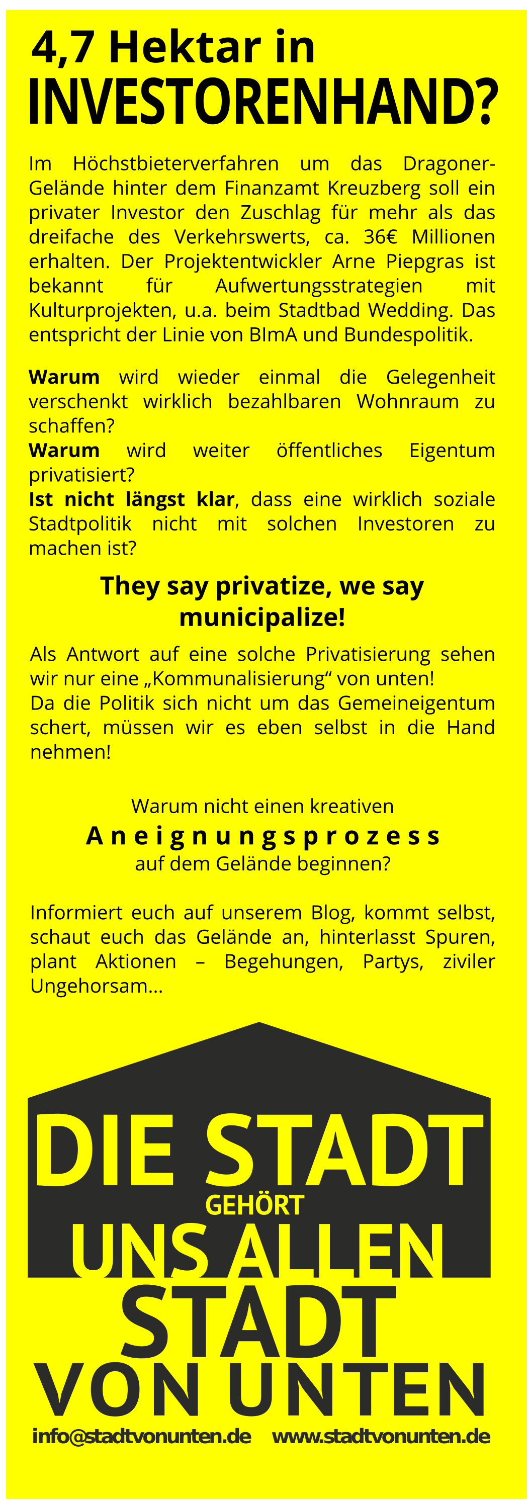 Flyer Aneignung