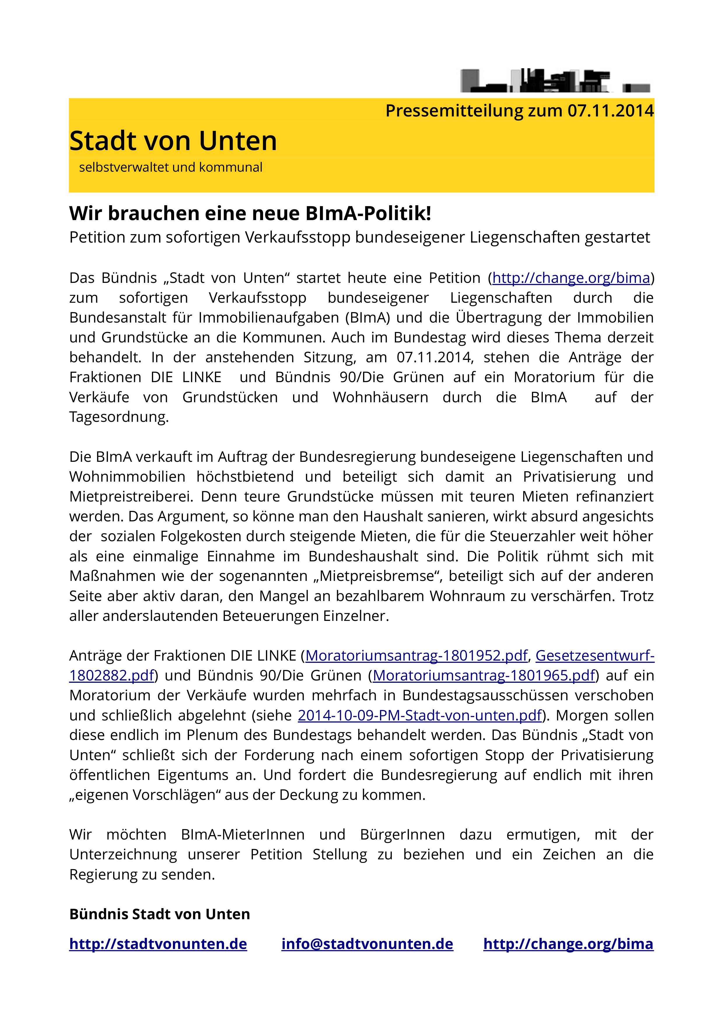 Pressemitteilung 2014-11-07